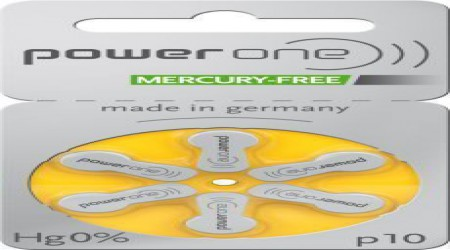 Power One Hearing Aid Battery, Mercury Free Size 10 by Shri Ganpati Sales