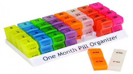 One Month Pill Organizer by Isha Surgical
